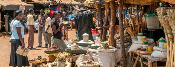A Market in Livingstone City, Zambia.